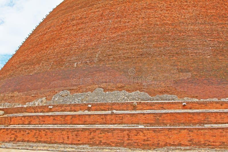 Jetavanaramaya Stupa, patrimonio mundial de la UNESCO de Sri Lanka foto de archivo libre de regalías