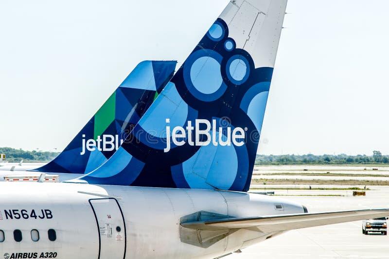 JetBlue飞机 免版税库存照片