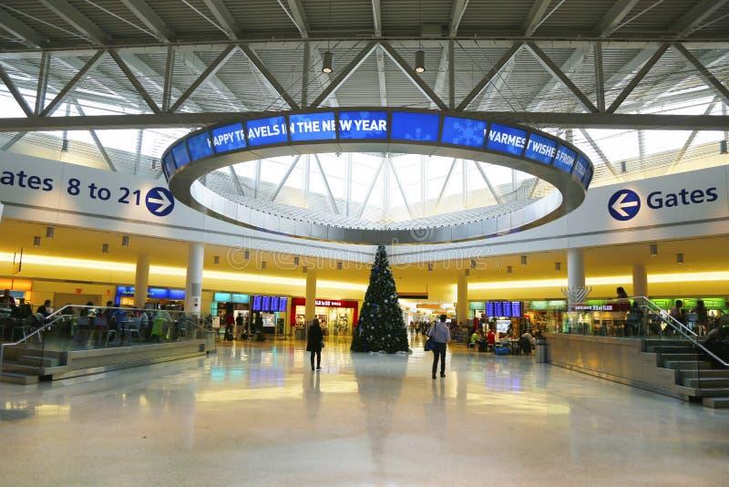 JetBlue终端5在约翰・肯尼迪国际机场在纽约 库存图片