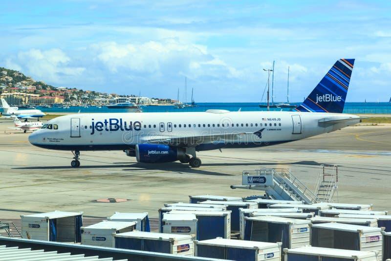 Jetblue fotografia stock