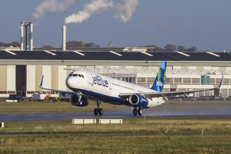 JetBlue Airbus A321 foto de stock royalty free