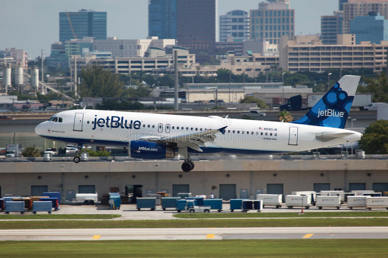 JetBlue Airbus A320 royalty free stock images