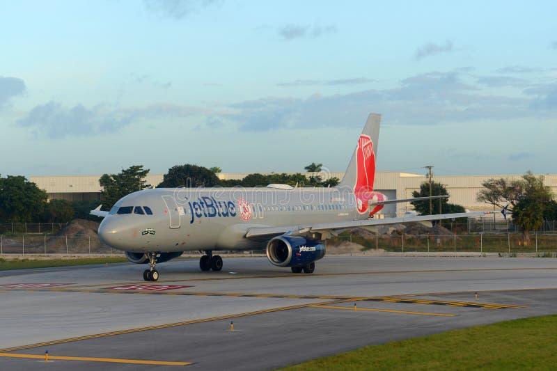 Jetblue Airways Airbus 320 at Ft. Lauderdale Airport stock photo