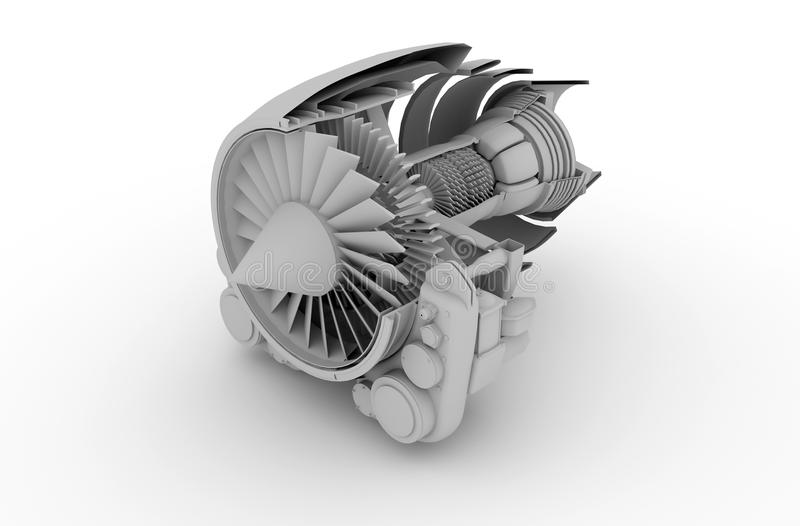 JetEngine vector illustration