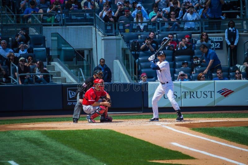 Jeter at Bat stock photo