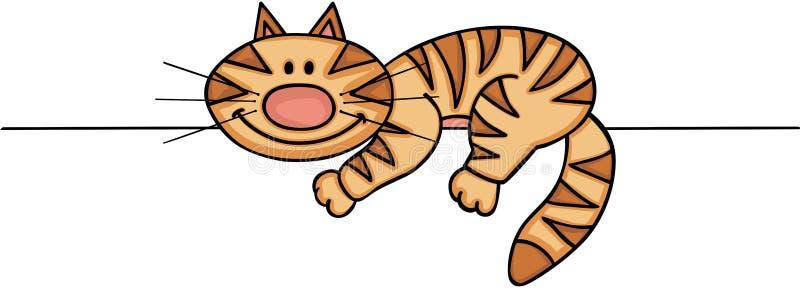 Jeter un coup d'oeil mignon de chat illustration libre de droits