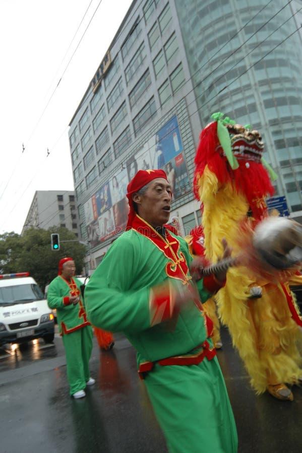 Jetez le festival de printemps de fourchette-Le d'anneau à Nan-Tchang photo stock