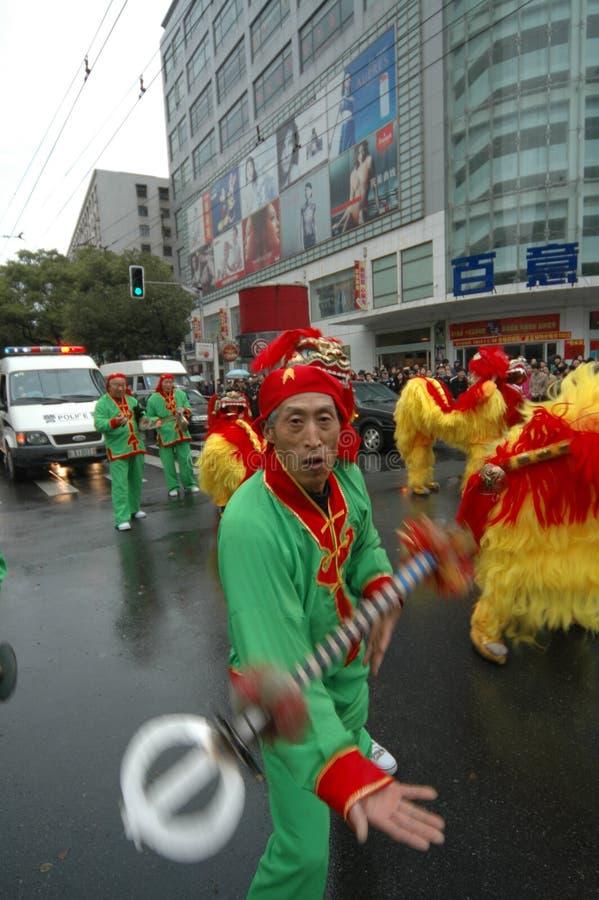 Jetez le festival de printemps de fourchette-Le d'anneau à Nan-Tchang photos stock