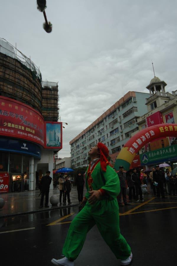 Jetez le festival de printemps de fourchette-Le d'anneau à Nan-Tchang photographie stock