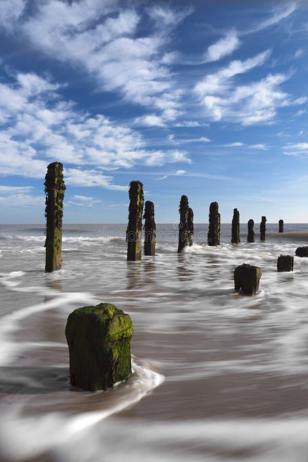 Jetez le point et la Mer du Nord photos stock