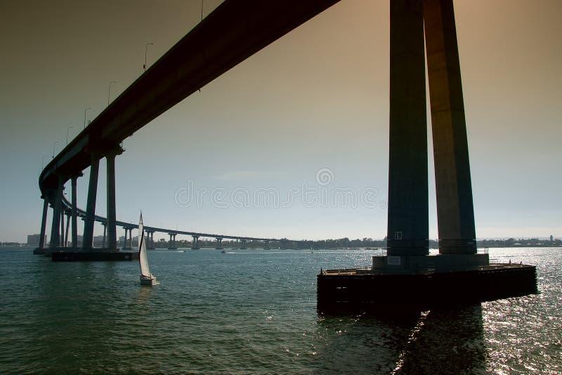 jetez un pont sur le coronado diego san photo stock