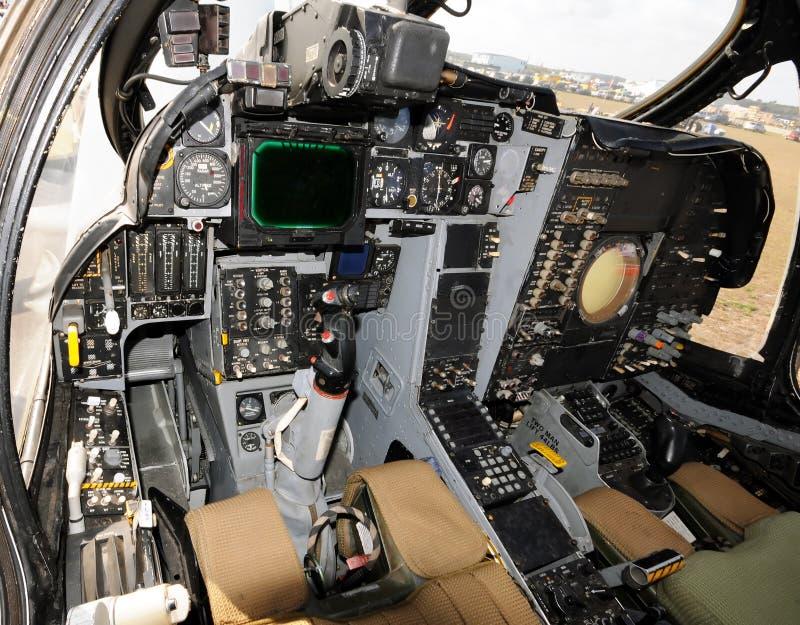 Jetfighter Cockpit stockbilder