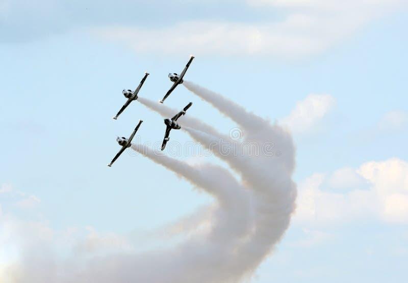 Jetfighters in vorming royalty-vrije stock afbeelding