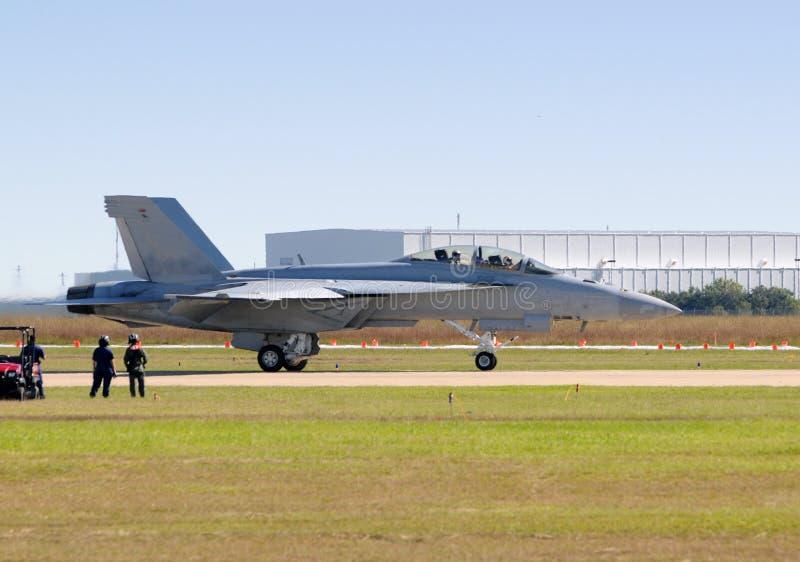 jetfightersidosikt royaltyfria bilder