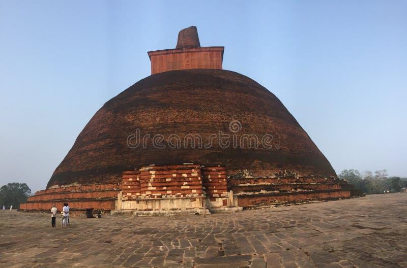 Jethawanaramaya в Шри-Ланка стоковое изображение