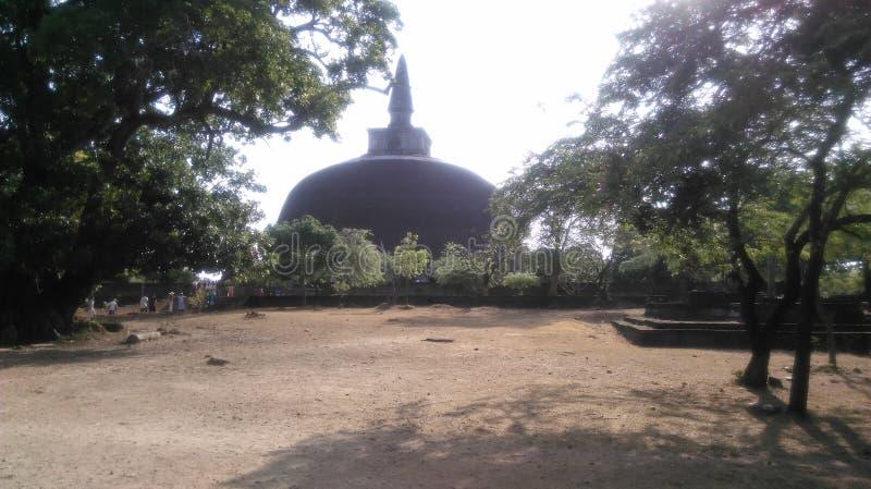 Jethawanaramaya chaithya Polonnaruwa斯里兰卡 图库摄影