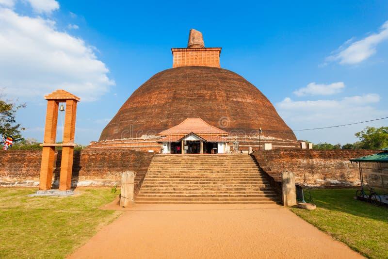 Jethawanaramaya Stupa en Anuradhapura foto de archivo libre de regalías