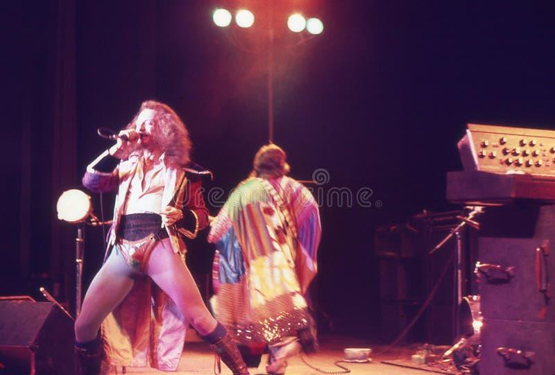 1974. Jethro Tull 07. Dinamarca, Copenhaga. fotos de stock royalty free