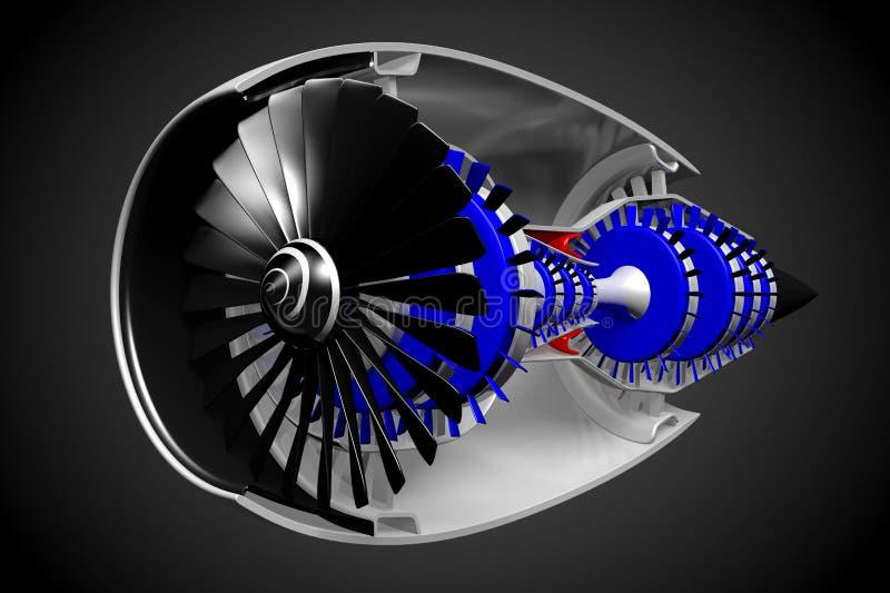 jetmotor 3D vektor illustrationer
