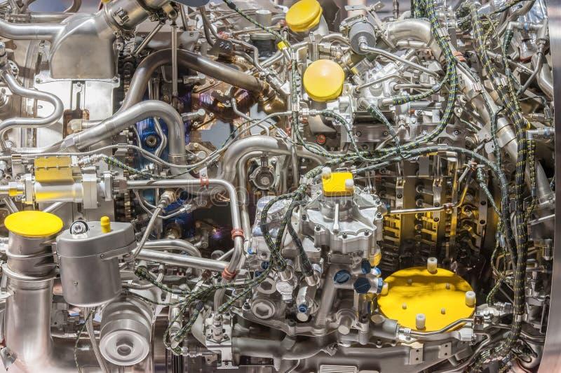 Jetmotordelar arkivbild