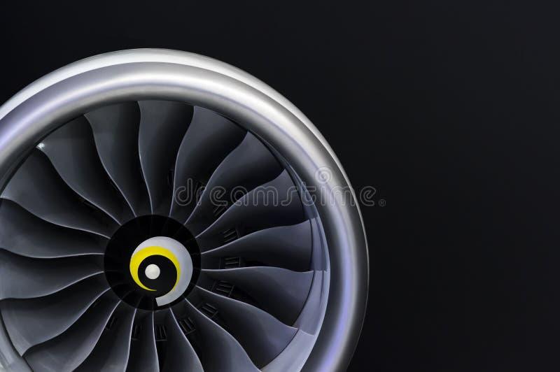 Jetmotordetalj arkivfoton