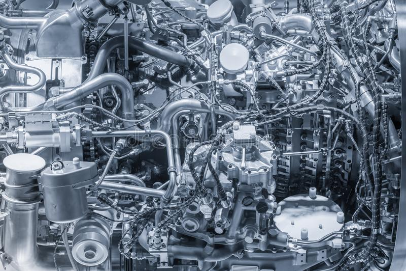 Jetmotordetaljcloseup arkivbild
