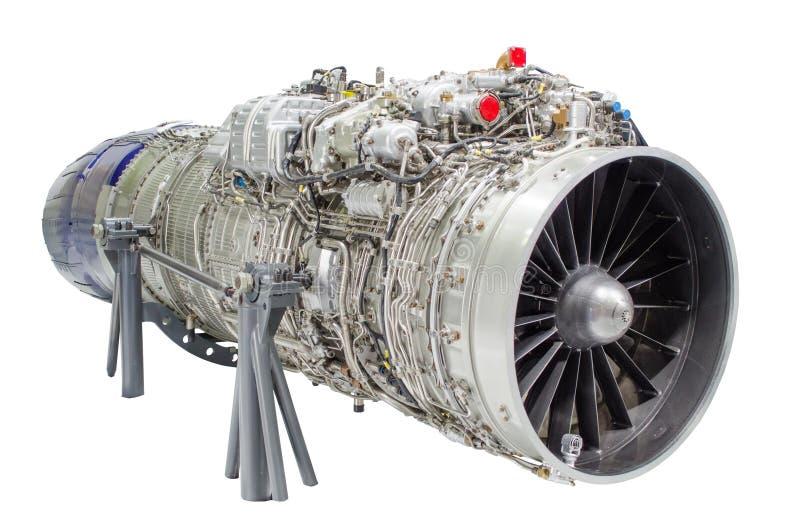 Jetmotorflygplan, turbin isolerade vit bakgrund royaltyfri fotografi