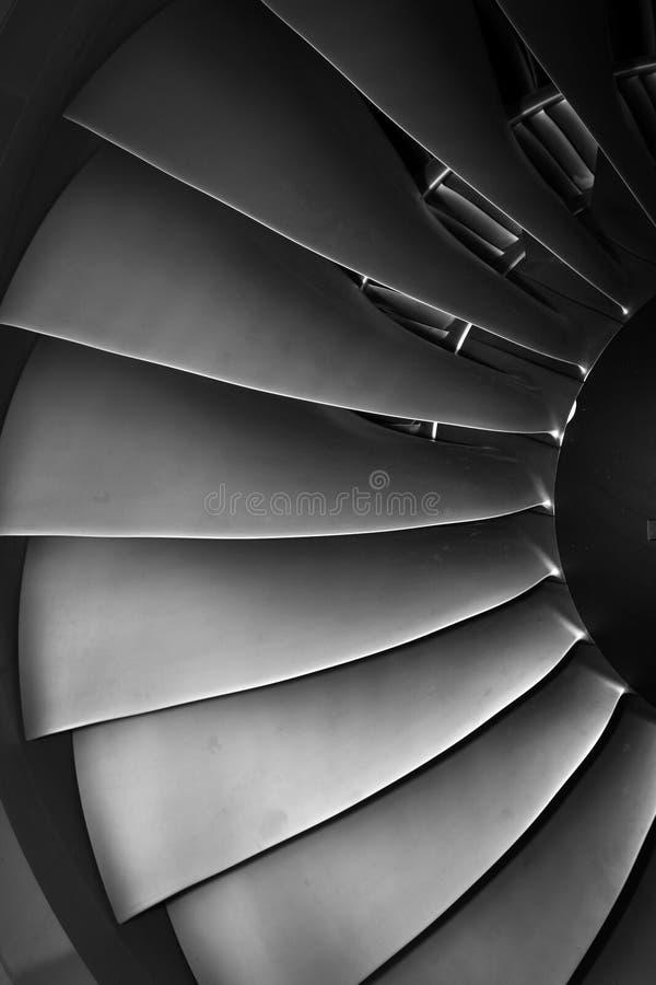 Jetmotorpassagerarenivå royaltyfri fotografi