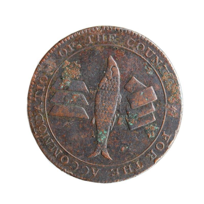 jeton d'isolement par Cornouailles de pièce de monnaie des 1811 anglais photo stock