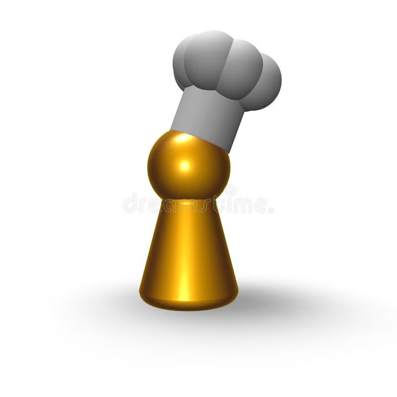 Jeton de cuisinier illustration libre de droits