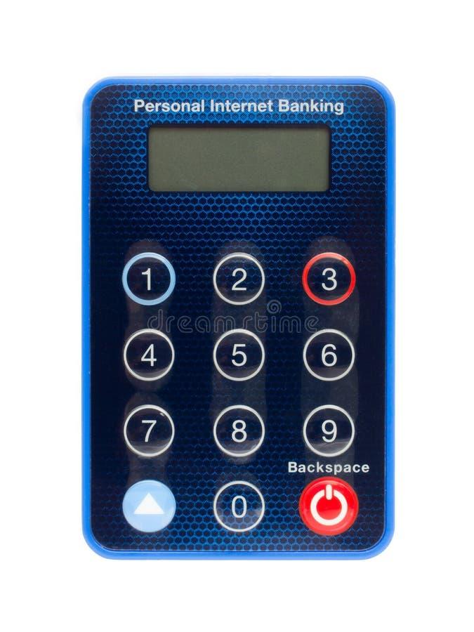 Jeton de garantie d'opérations bancaires d'Internet photo stock