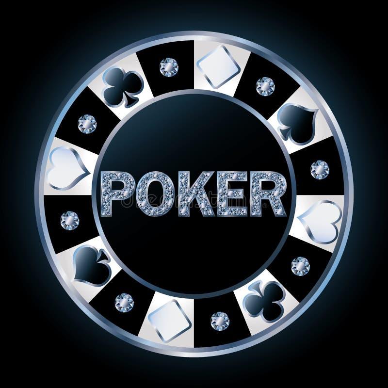 Jeton de poker brillant précieux illustration stock
