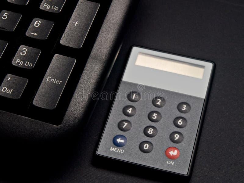Jeton et clavier de garantie image libre de droits