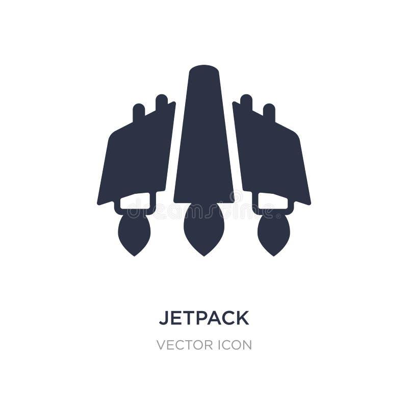 jetpack pictogram op witte achtergrond Eenvoudige elementenillustratie van Toekomstig technologieconcept stock illustratie