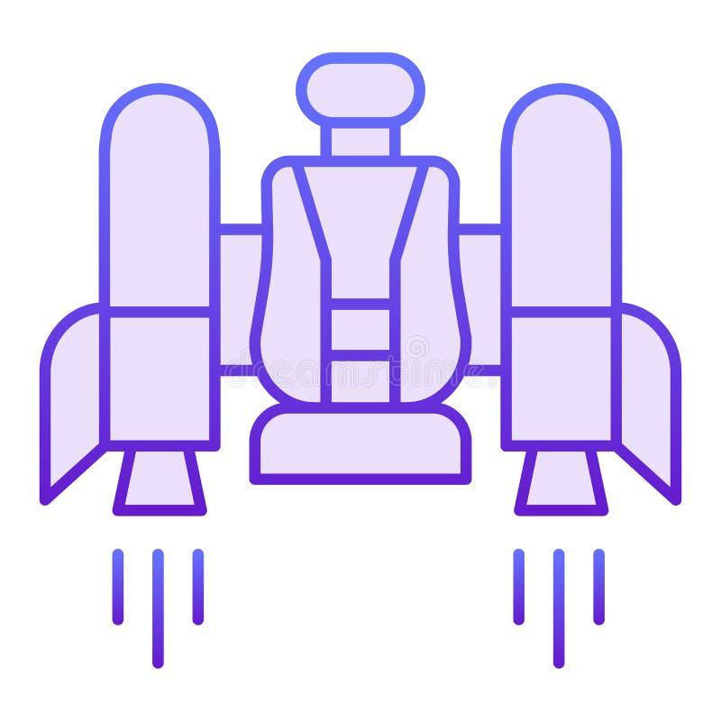 Jetpack vlak pictogram Jetpack met een stoel violette pictogrammen in in vlakke stijl Toekomstig de stijlontwerp van de technolog royalty-vrije illustratie
