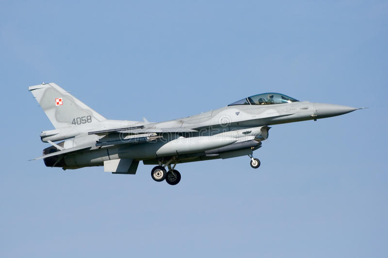 Jetplane F-16 imagem de stock