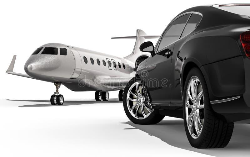 Jetplane privado fotografia de stock