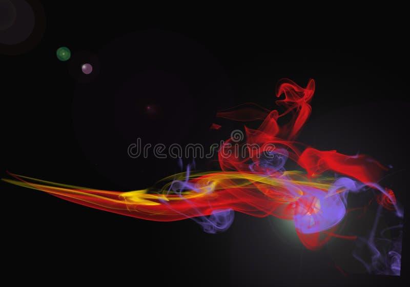 Jets abstraits transparents de fumée illustration stock