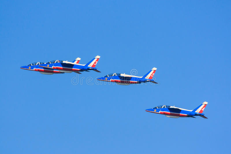 Jets de Patrouille de France photographie stock
