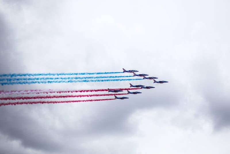 Jets de Patrouille de Francia en el Tour de France 2017 fotografía de archivo libre de regalías