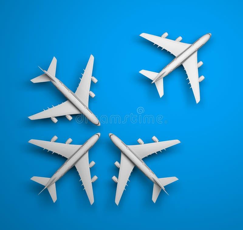 Jets del fondo stock de ilustración