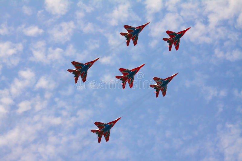Download Jets Do Figure In The Daytime Royalty Free Stock Image - Image: 22331336