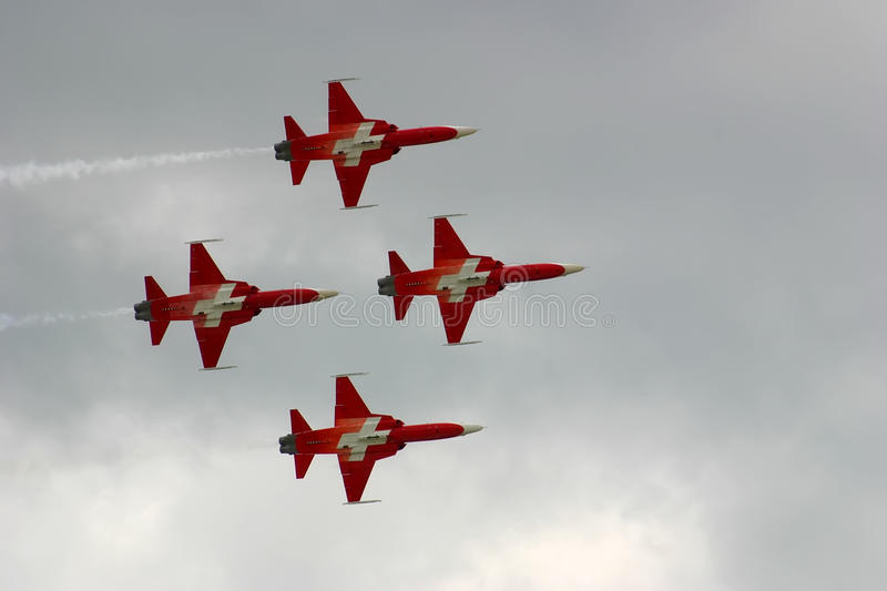 Jets formation royalty free stock photography