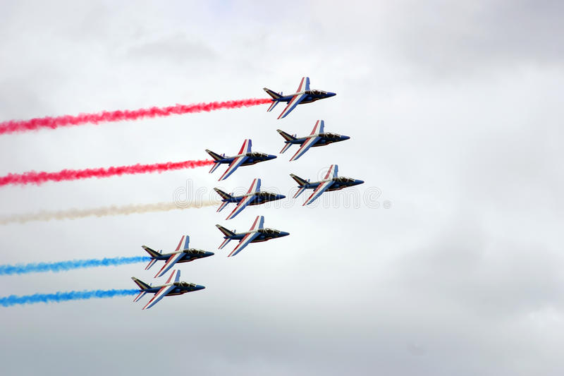 Jets formation stock image