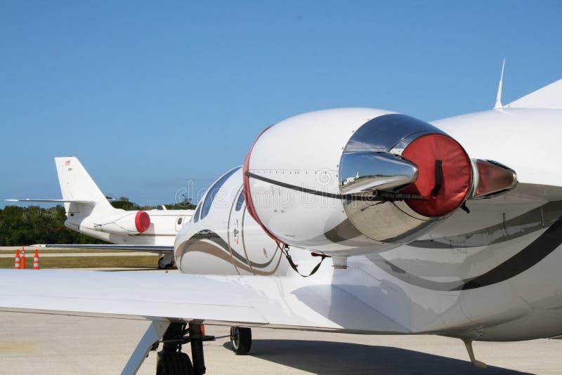 jets landningsbanan royaltyfri bild
