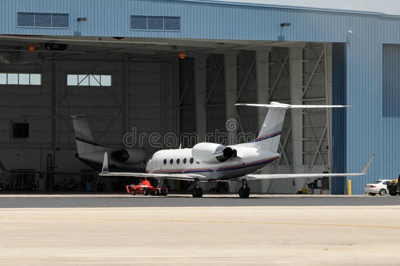 Jets neat hangar royalty free stock image