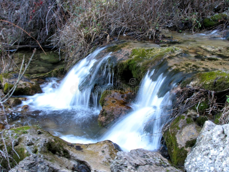 The Jets of the World River in Sierra de Alcaraz, Albacete. Andalusia. Spain royalty free stock image