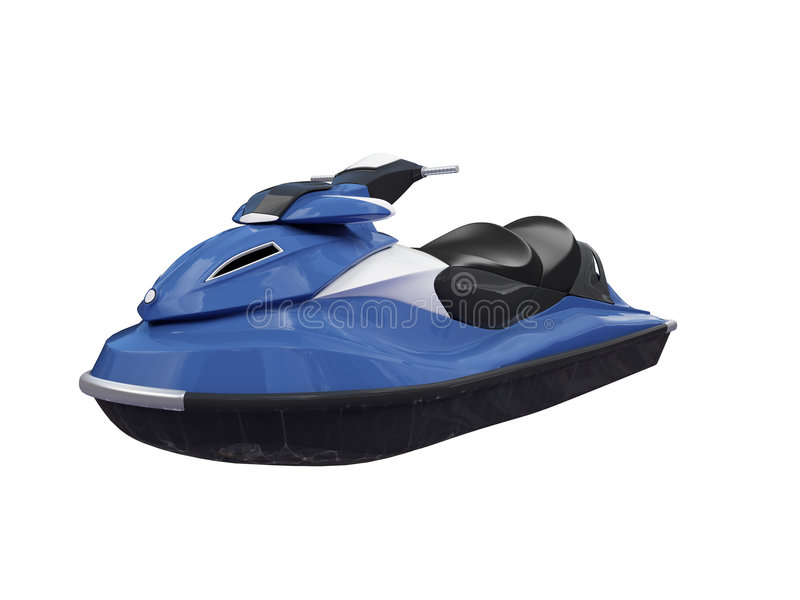 Download Jetski Blue Isolated Front View Stock Photography - Image: 3621402