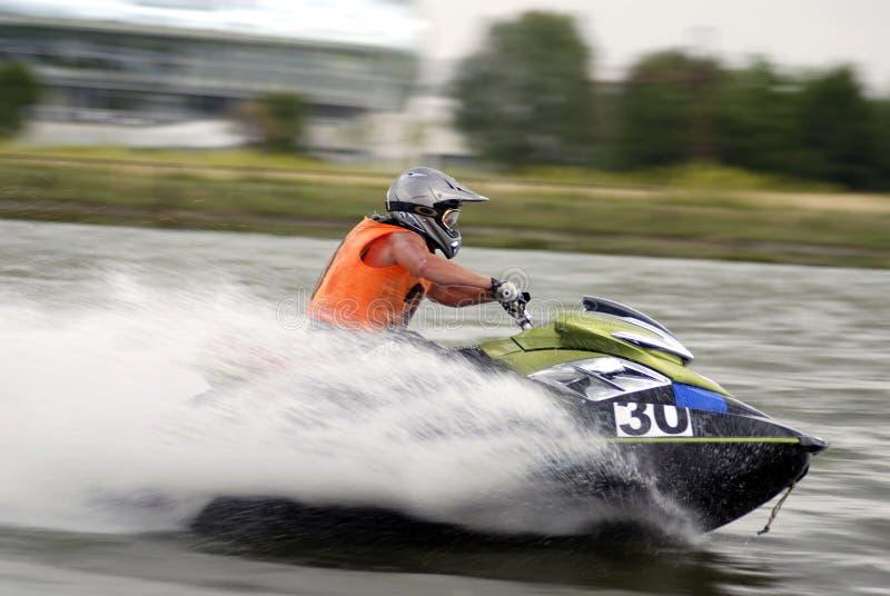 Jetski de alta velocidade da água fotografia de stock