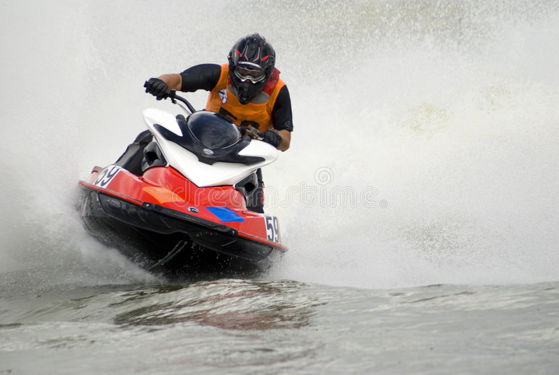 Jetski de alta velocidade da água fotos de stock royalty free